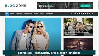 BlogZone Blogger Template ᴴᴰ