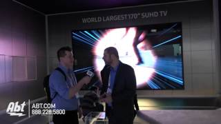 "Samsung with the World's Largest 170"" SUHDTV - Abt CES 2016"