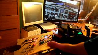Final version of prototype arduino flight simulator panel
