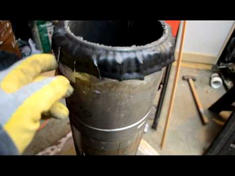 Making a Rocket Stove Thermal Mass Heater - part 2