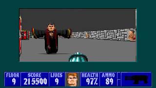 [MS-DOS] Wolfenstein 3D - Floor 9 (Episode III)