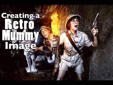 Creating a Retro Mummy Image - Photography Tutorial