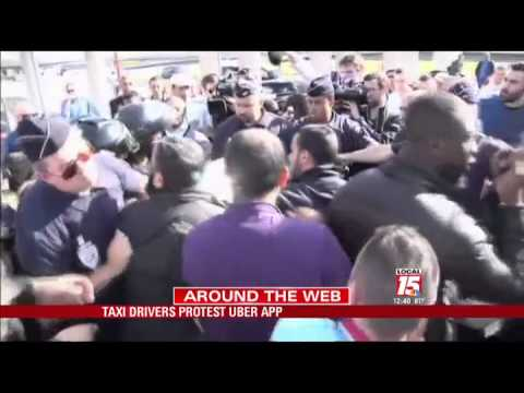 Taxi Drivers Protest 'Uber' App
