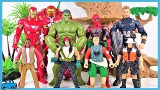 Hulkbuster Help! Venom appeared! Avengers toys Go!Iron man,spiderman,Hulk,Captain America-CharlesToy