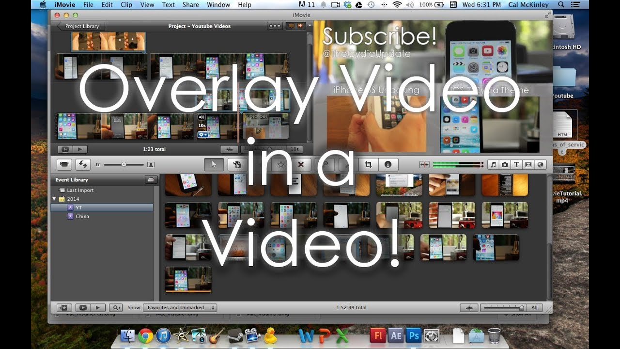 how to add pictures to imovie