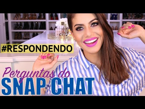 Respondendo Perguntas do SNAPCHAT (Cirurgia no Nariz, Morar no Brasil etc)