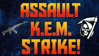 COD Ghosts: Assault K.E.M. Strike On Whiteout w/ Beastly AK-12!!! (COD Ghosts KEM Gameplay)