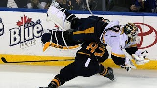 NHL: Goalies Getting Hit Part 3