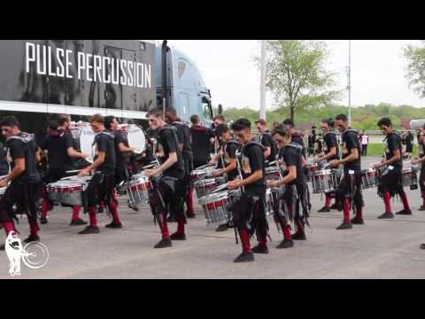 Pulse Drum Line in the Lot   WGI 2017 Finals   Steve Weiss Music