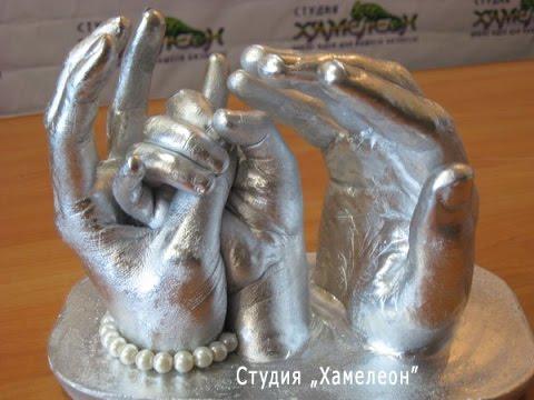 Объемные слепки ручек и ножек в домашних условиях