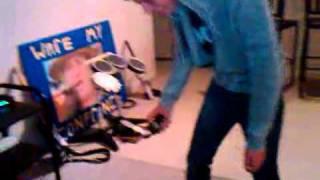 An Idiot getting a 350,000 volts stun gun in the ass