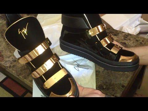 Giuseppe Zanotti Unboxing - Triple Bar Velvet Sneakers