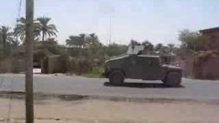 Fire fight in Ad Duluiyah, Iraq