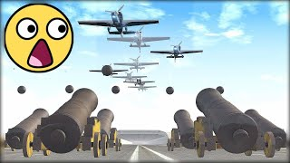 Planes Vs Cannons #1 - BeamNG.Drive Crashes