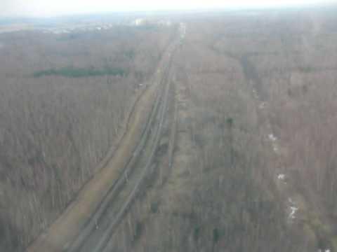 Потерпевший крушение в Домодедово ТУ-204 (на 55 секунде)