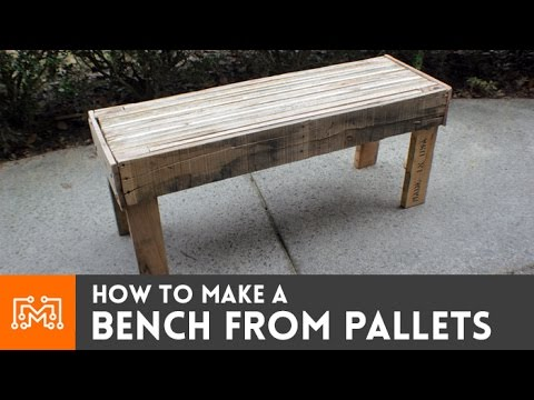 How to make a bench from reclaimed pallets youtube for Making things with wooden pallets