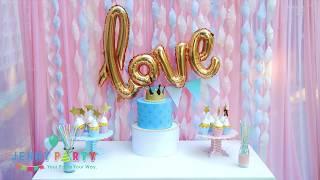 Hướng dẫn trang trí sinh nhật với backdrop sinh nhật bằng màn giấy xoắn cùng Jenny Party Store