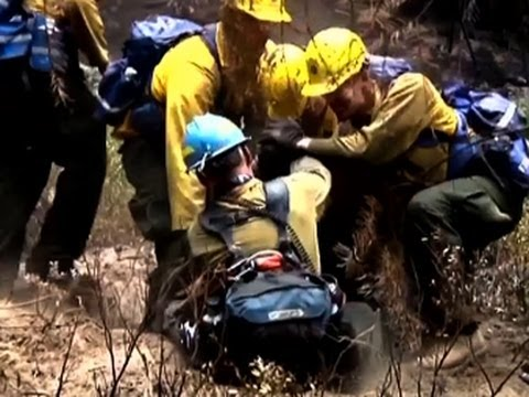 Raw: National Guard Helps Battle WA Wildfires