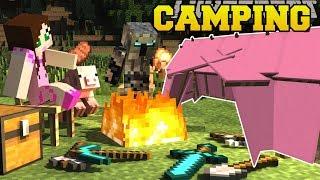Minecraft: CAMPING!!! (TENTS, CAMPFIRES, SLEEPING BAGS, & LANTERNS!) Custom Command