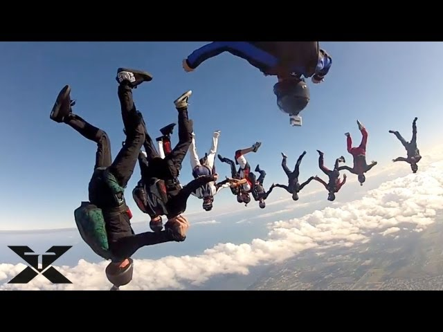 Skydive Record Attempt - Practice Jumps
