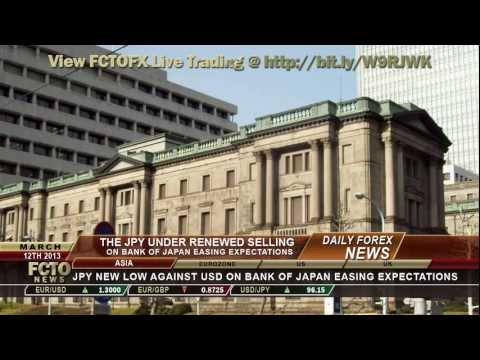 Daily Forex News March 12th 2013 Bank of Japan