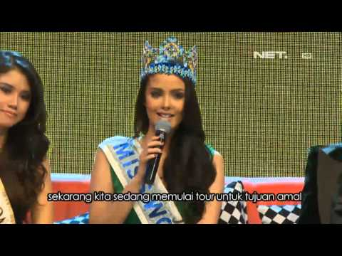 Entertainment News Miss World 2013 Megan Young Berkunjung ke Indonesia