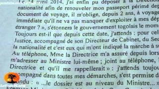 Kofi YAMGNANE écrit à Faure GNASSINGBE pour obtenir son certificat de nationalité et son passeport