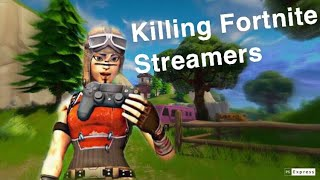 Killing Twitch Streamers #1 (with reactions) - Fortnite Battle Royale