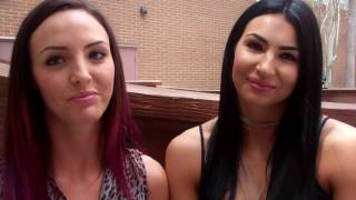 Peyton Royce, Billie Kay at Arnold Palmer Hospital for Children - WWE WrestleMania Week Orlando 2017