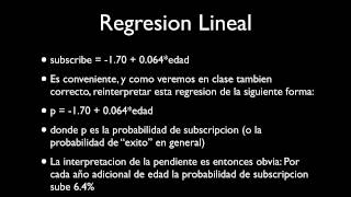 Regresion Logistica: Introduccion