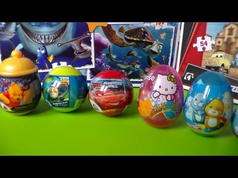 8 SURPRISE EGG , BALL CARS , TOY STORY  , KINDER JOY , DISNEY  , HELLO KITTY , JAJKO NIESPODZIANKA