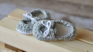 Crochet Pattern For Baby Boat Shoes : How to crochet nike inspired baby booties - ViYoutube
