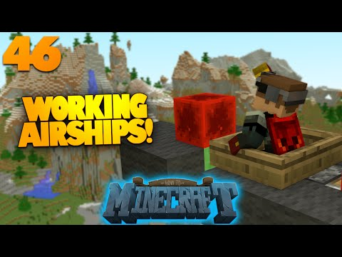 How To Minecraft   #46   Flying Machines   Submarine In Minecraft (How To Minecraft SMP)