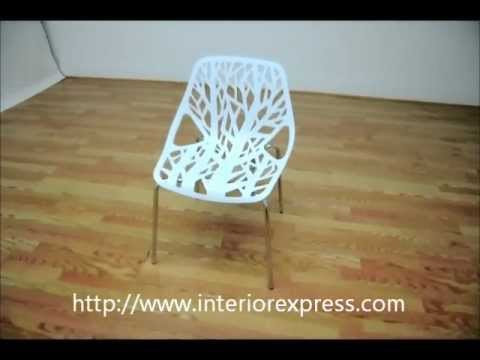 InteriorExpress Birch Sapling White Plastic Accent / Dining Chair