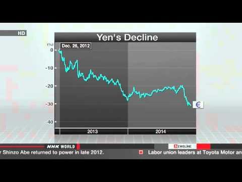 Yen weakens against major currencies   News   NHK WORLD   English