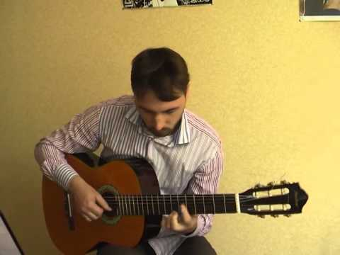 """""""Молитва за Украину"""" на гитаре (уроки в Киеве,ноты,табы)"""