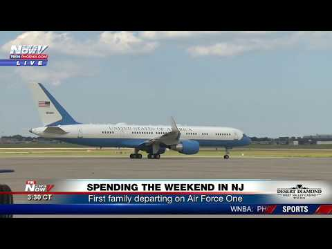 TAKE OFF: President Trump and Family Head To New Jersey - Air Force One