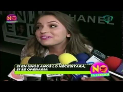 Sofia Castro piensa en cirugías estéticas para conservar su belleza