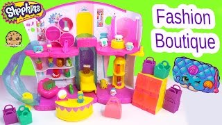 Shopkins Season 3 Playset Fashion Boutique Mode Spree Exclusive Toy - Blind Bag Video Cookieswirlc