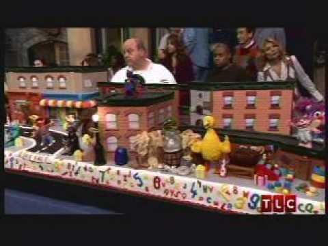 Sesame Street 40 Year Anniversary Cake Boss Cookie Monster - YouTube
