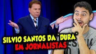 """Silvio Santos da """"DURA"""" em jornalistas"""