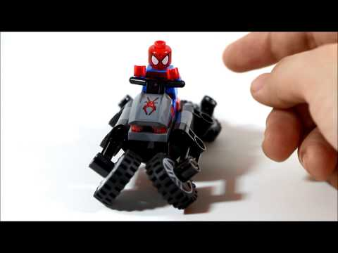 Lego Marvel Ultimate Spider-man Spiderman Spider-cycle Chase Review 76004