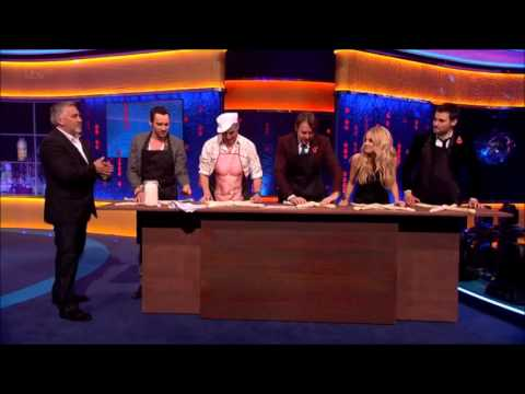 Joanne Froggatt schooling Rob James-Collier in bread brading