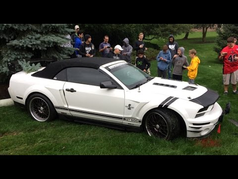 MUSTANG CRASH at Lake Forest Sports Cars Event