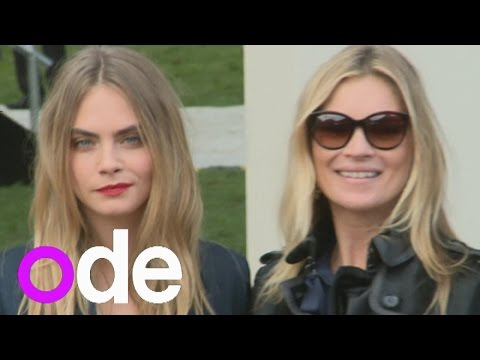 Burberry 2014: Cara Delevingne, Kate Moss, Suki Waterhouse, Jamie Campbell Bower, Cat Deeley