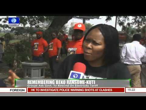 News Across Nigeria: Civil Groups Extol Late Beko Ransome-Kuti At 10th Anniversary Pt.3