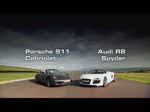 Porsche 911 Cabriolet vs Audi R8 Spyder - Fifth Gear