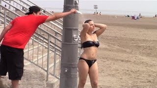 Shampoo Prank At The Beach On Hot Girl (GONE RIGHT) Original Shower Pranks