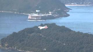 TAM A319 in Rio de Janeiro: Famous Approach to Santos Dumont Airport RWY02