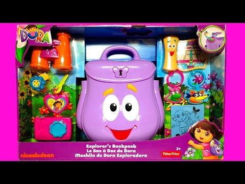 Dora's Backpack Dora The Explorer Backpack Mochila De Dora La Exploradora Fisher-price Toys video